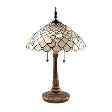 "Tiffany Shells 26"" H Table Lamp with Bowl Shade"