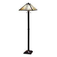 Noir Mission Floor Lamp