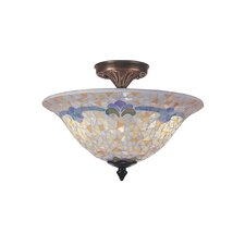 Johana Mosaic 3 Light Flush Mount