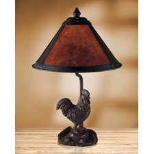"""Rooster Mica 16"""" H Table Lamp with Empire Shade"""