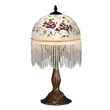 """Rose Beaded 18.5"""" H Table Lamp with Bowl Shade"""