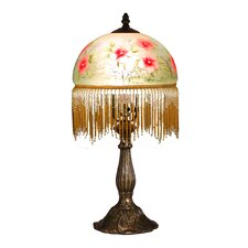 """Pansy Beaded 18.5"""" H Table Lamp with Bowl Shade"""