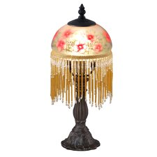 """Pansy Beaded 13.5"""" H Table Lamp with Bowl Shade"""
