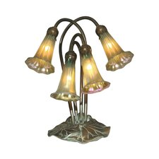 """Lily 13"""" H Table Lamp with Novelty Shade"""