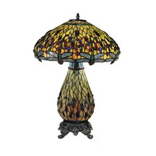 "Dragonfly 25"" H Table Lamp with Bowl Shade"