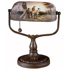 """Handale Golf Bankers 17"""" H Table Lamp with Rectangular Shade"""