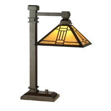 """Noir Mission 22"""" H Table Lamp with Square Shade"""