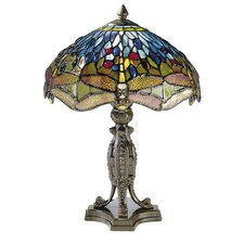 "Dragonfly 17"" H Table Lamp with Bowl Shade"