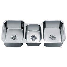 """45.88"""" x 20.88"""" Under Mount Triple Bowl Kitchen Sink"""