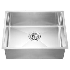 "21.88"" x 17.19"" Under Mount Small Corner Radius Single Bowl Kitchen Sink"