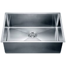 "26.5"" x 18"" Under Mount Small Corner Radius Single Bowl Kitchen Sink"