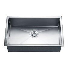 "30"" x 18"" Under Mount Square Single Bowl Kitchen Sink"