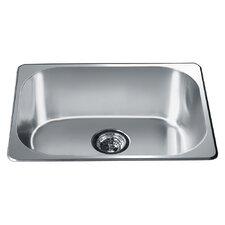 """22"""" x 17.75"""" Top Mount Single Bowl Kitchen Sink"""