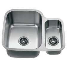 """24.75"""" x 20.88"""" Under Mount Double Bowl Kitchen Sink"""