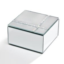 Mirrored Crossing Diamond Jewelry Box