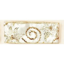 Glitter Flower Wired Ribbon Roll
