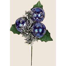Christmas Sflake Balls on Pick (Set of 12)