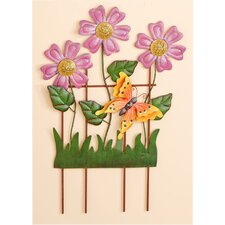 Decorated Metal Trellis with Daisys