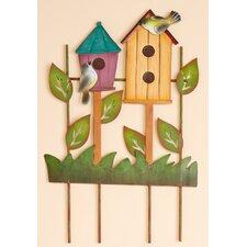 Decorated Trellis with Birdhouses