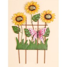 Decorated Trellis with Sunflowers
