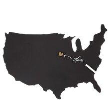 Us Map Chalkboard Wall Decor