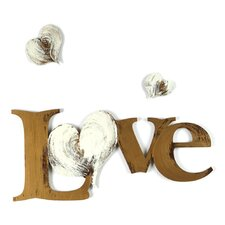 Love with Hearts Wall Décor