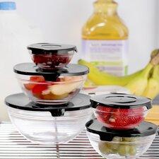 Wayfair Basics 10 Piece Glass Bowl Set with Solid Lids