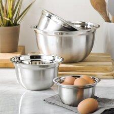 Wayfair Basics 4 Piece Stainless Steel Mixing Bowl Set