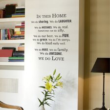 In This Home Modern Wall Decal
