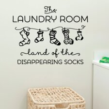 Land of Disappearing Socks Wall Decal