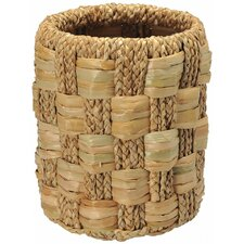 Round Braided Sea Grass Waste Basket