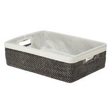 Rattan Shelf Basket with Cotton Liner