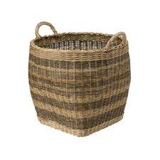 Wicker Striped Storage Basket