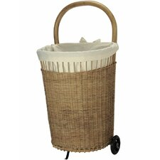 Wicker French Market Basket with Cotton Liner