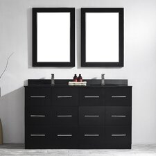 "Latina 60"" Double Vanity Set with Mirrors"