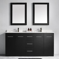 "Taranto 72"" Double Vanity Set with Mirrors"