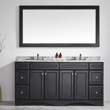 "Naples 72"" Double Bathroom Vanity Set with Mirror"