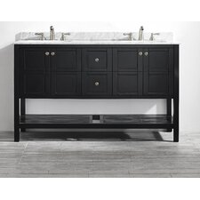 "Florence 60"" Double Bathroom Vanity Set"