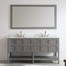"Florence 72"" Double Vanity Set with Mirror"
