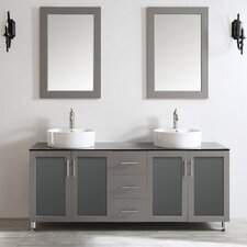 "Tuscany 72"" Double Vanity Set with Mirror"
