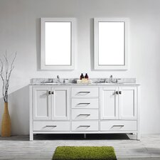 "Gela 72"" Double Vanity Set with Mirror"