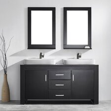 "Pascara 63"" Double Vanity Set with Mirror"