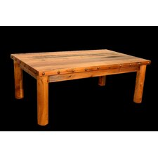 Barnwood Coffee Table with Round Legs