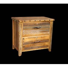Barnwood 2 Drawer Lateral File Cabinet