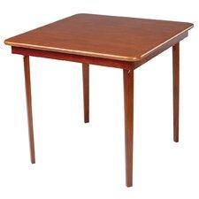"Straight Edge Wood 32"" Folding Card Table"