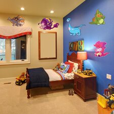 Colorful Baby Dino Wall Decal