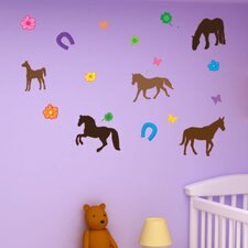 Colorful Horse Wall Decal Set