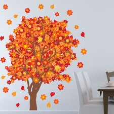 Orange Blossom Tree Wall Decal