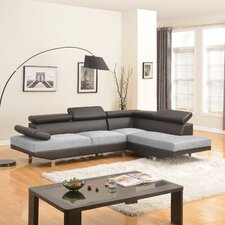 Designed Two Tone Right Hand Facing Sectional