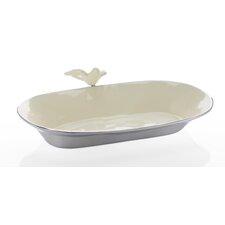 Dove Oval Decorative Bowl